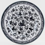 Burleigh Regal Peacock black Dinner Plate