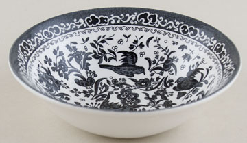 Burleigh Regal Peacock black Cereal or Dessert Bowl