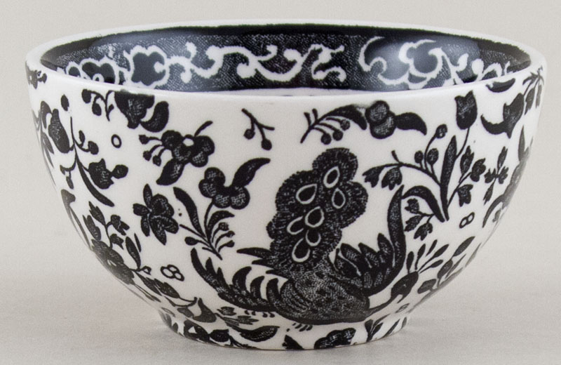 Burleigh Regal Peacock black Sugar Bowl small