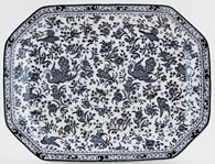 Burleigh Regal Peacock black Meat Dish or Platter medium large