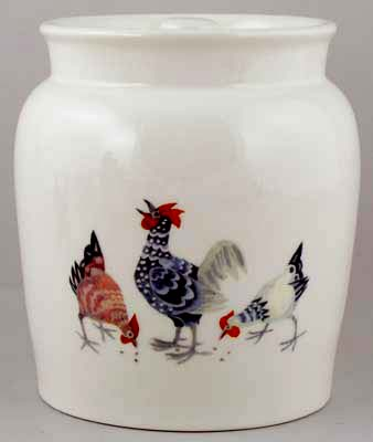 Burleigh Rosies Hens colour Storage Jar Cookies large