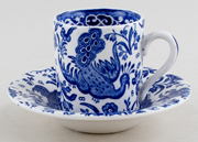 Burleigh Regal Peacock Cup and Saucer Espresso
