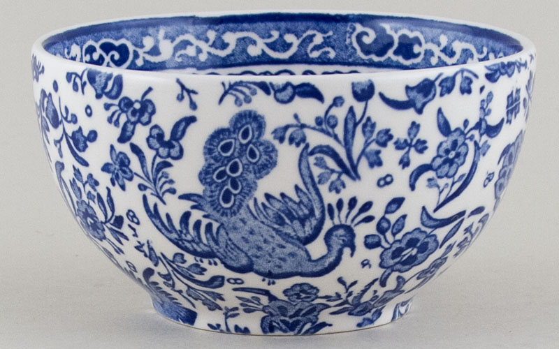 Burleigh Regal Peacock Sugar Bowl large