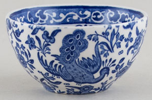 Burleigh Regal Peacock Sugar Bowl small