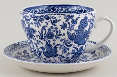 Burleigh Regal Peacock Breakfast Cup and Saucer