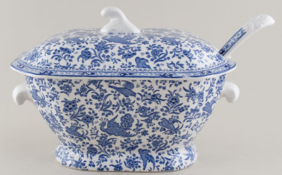 Burleigh Regal Peacock Soup Tureen with Ladle