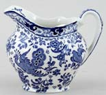 Burleigh Regal Peacock Jug or Creamer