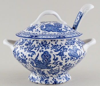 Burleigh Regal Peacock Sauce Tureen with Ladle