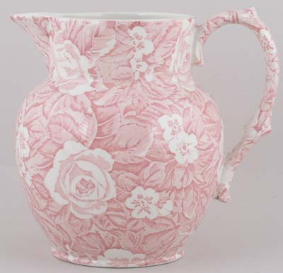 Burleigh Victorian Chintz pink Jug or Pitcher Etruscan small