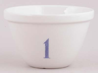 Burleigh White Ironstone Pudding Basin No 1