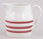 Jug or Pitcher Hooped Churn Red