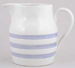 Jug or Pitcher Hooped Churn Pale Blue