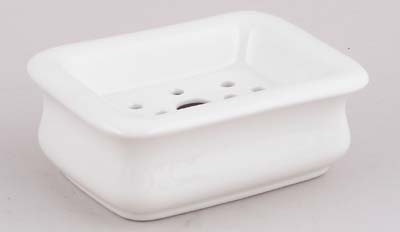 Burleigh White Ironstone Soap Dish With Drainer Of