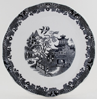 Burleigh Willow black Cake Plate