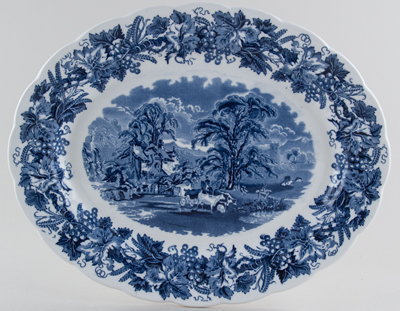 Booths British Scenery Meat Dish or Platter c1950s