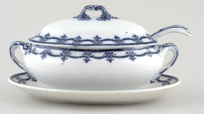 Booths Imperial Border Sauce Tureen c1920