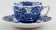 Booths British Scenery Teacup and Saucer c1950s