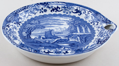 Booths Old Blue Danube Warming Dish c1930s