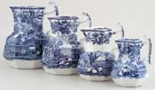 Jugs or Pitchers Set of Four c1920s