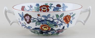 Booths The Pompadour blue with colour Soup Cup c1950s