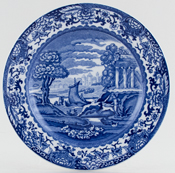 Booths Old Blue Danube Plate c1931