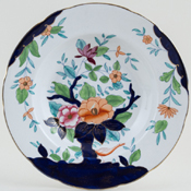 Booths Oriental Tree colour Soup Plate c1920s