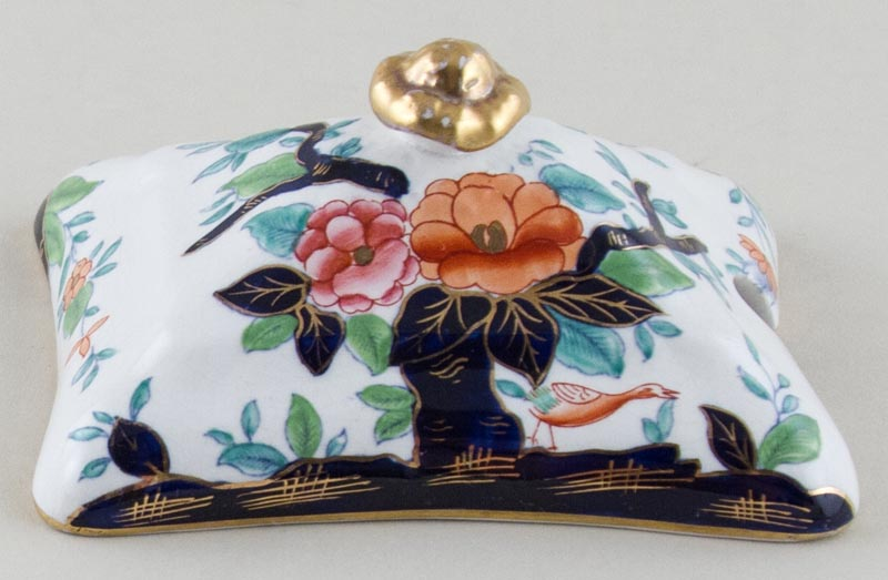 Booths Oriental Tree colour Sauce Tureen cover c1920s