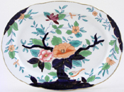 Booths Oriental Tree colour Meat Dish or Platter c1920s