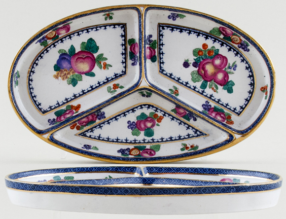 Booths Goodes Floral colour Dish c1920s