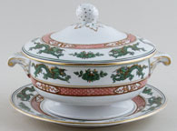 Booths Dragon green Sauce Tureen c1920