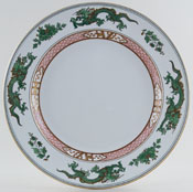 Booths Dragon green Plate c1920