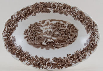 Booths British Scenery brown Dish c1950s