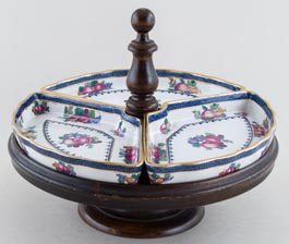 Booths Goodes Floral colour Lazy Susan c1920