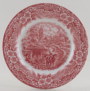Broadhurst The Constable Series pink Plate c1970s