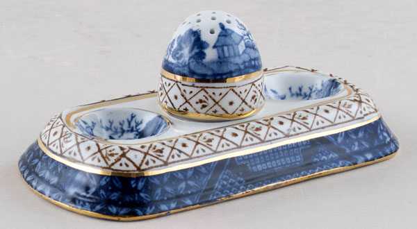 Booths Real Old Willow Condiment Set c1930s