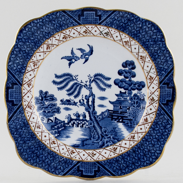 Booths Real Old Willow Sandwich Plate c1950s
