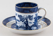 Booths Real Old Willow Coffee Can and Saucer c1930
