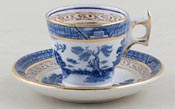 Booths Real Old Willow Miniature Cup and Saucer c1930s