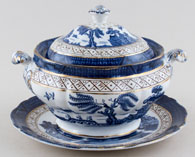 Booths Real Old Willow Sauce Tureen c1920s