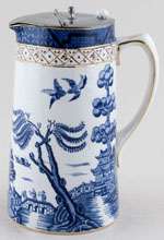 Booths Real Old Willow Jug or Pitcher Hot Water c1930