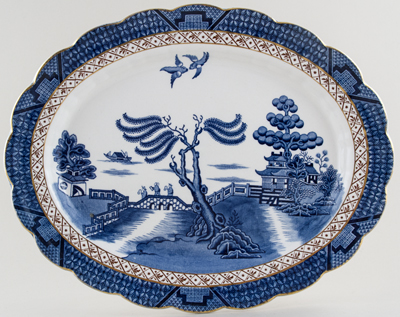 Booths Real Old Willow Meat Dish or Platter c1947