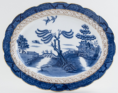 Booths Real Old Willow Meat Dish or Platter c1931