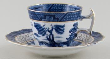 Booths Real Old Willow Coffee Cup and Saucer c1930