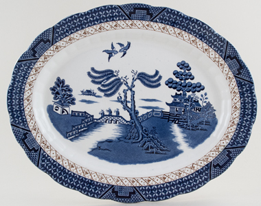 Booths Real Old Willow Meat Dish or Platter c1950s