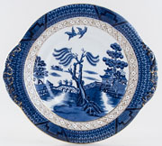 Booths Real Old Willow Cake Plate c1929