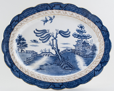 Booths Real Old Willow Meat Dish or Platter c1922