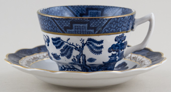 Booths Real Old Willow Teacup and Saucer c1950s and 1960s