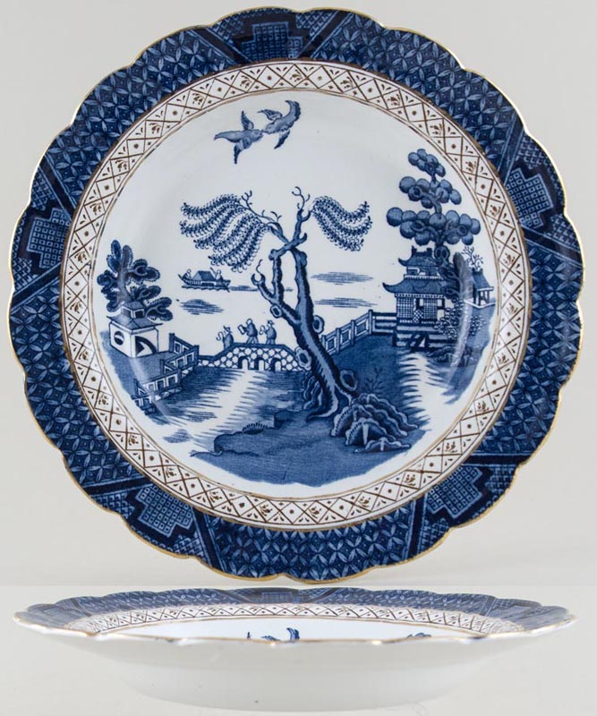 Booths Real Old Willow Soup Plate c1930