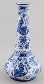 Burgess and Leigh Chinese Peacock Vase c1915