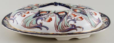 Burgess and Leigh Florette colour Dish for Bacon c1915